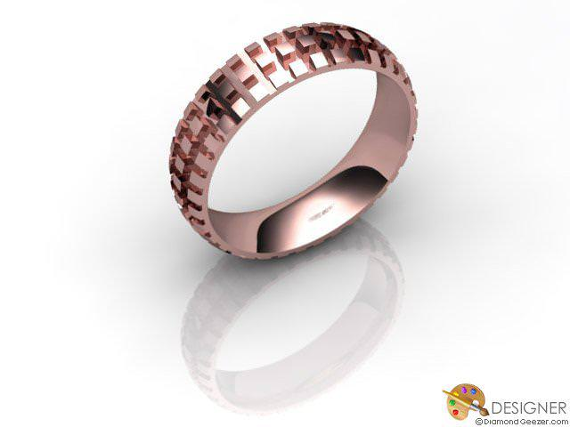 Men's Designer 18ct. Rose Gold Court Wedding Ring