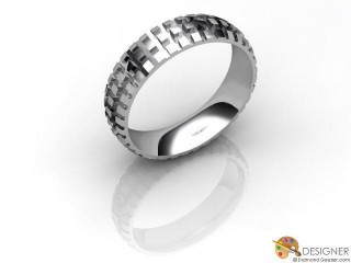 Men's Designer 18ct. White Gold Court Wedding Ring-D10863-0501-000G