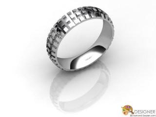 Men's Designer Palladium Court Wedding Ring-D10863-6601-000G