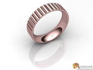 Men's Designer 18ct. Rose Gold Court Wedding Ring-D10865-0401-000G