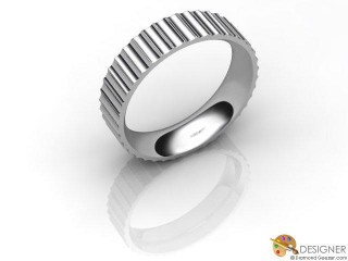 Men's Designer 18ct. White Gold Court Wedding Ring-D10865-0501-000G