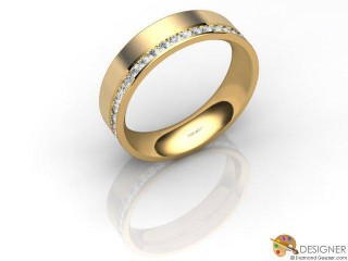 Men's Diamond 18ct. Yellow Gold Court Wedding Ring-D10866-1803-000G