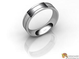 Women's Designer Platinum Flat-Court Wedding Ring-D10869-0101-000L