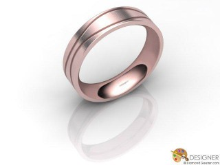 Men's Designer 18ct. Rose Gold Court Wedding Ring-D10873-0403-000G