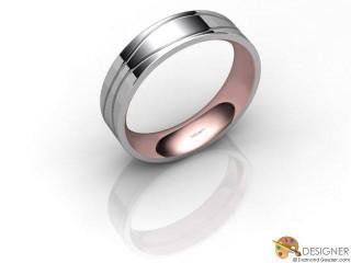 Men's Designer 18ct. White and Rose Gold Court Wedding Ring-D10873-2401-000G