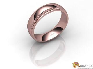 Men's Designer 18ct. Rose Gold Court Wedding Ring-D10877-0401-000G