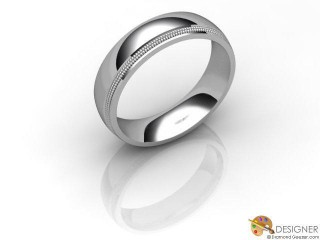 Men's Designer 18ct. White Gold Court Wedding Ring-D10877-0501-000G