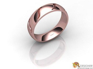 Men's Designer 18ct. Rose Gold Court Wedding Ring-D10893-0401-000G