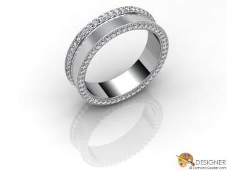 Men's Diamond Palladium Court Wedding Ring-D10902-6601-100G