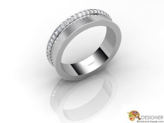 Men's Diamond Platinum Court Wedding Ring-D10906-0103-050G
