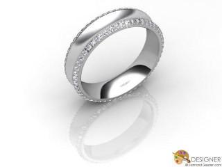 Men's Diamond Platinum Court Wedding Ring-D10908-1003-100G