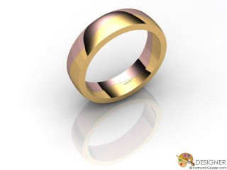 Men's Designer 18ct. Rose and Yellow Gold Court Wedding Ring-D10923-2501-000G