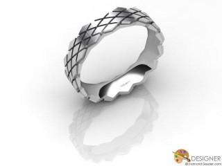 Men's Designer Platinum Court Wedding Ring-D10925-0103-000G
