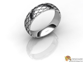 Men's Designer Platinum Court Wedding Ring-D10926-0101-000G