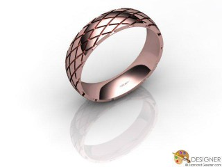 Men's Designer 18ct. Rose Gold Court Wedding Ring-D10926-0401-000G