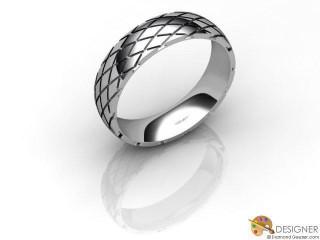 Men's Designer 18ct. White Gold Court Wedding Ring-D10926-0501-000G