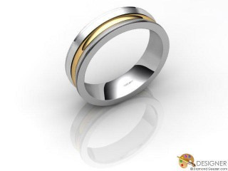 Women's Designer 18ct. Yellow and White Gold Court Wedding Ring-D10928-2801-000L