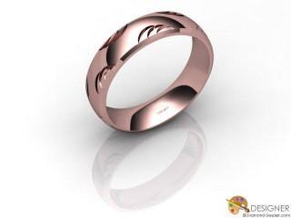Men's Designer 18ct. Rose Gold Court Wedding Ring-D10929-0401-000G