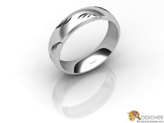 Men's Designer 18ct. White Gold Court Wedding Ring-D10929-0503-000G