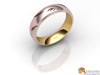 Men's Designer 18ct. Rose and Yellow Gold Court Wedding Ring-D10929-2503-000G