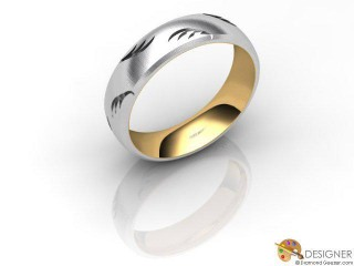 Women's Designer 18ct. Yellow and White Gold Court Wedding Ring-D10929-2803-000L
