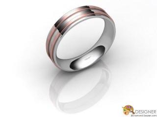 Men's Designer 18ct. White and Rose Gold Court Wedding Ring-D10933-2401-000G