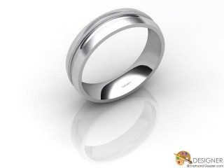 Men's Designer Platinum Court Wedding Ring-D10934-0103-000G