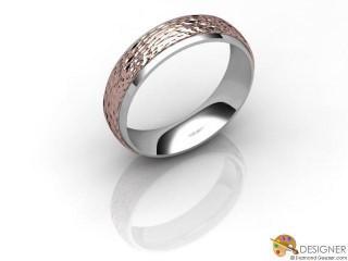 Men's Designer 18ct. White and Rose Gold Court Wedding Ring-D10957-2408-000G