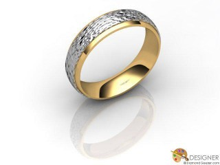 Women's Designer 18ct. Yellow and White Gold Court Wedding Ring-D10957-2808-000L