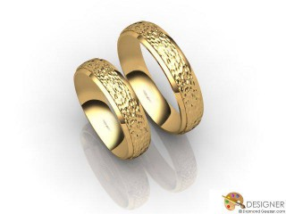 His and Hers Matching Set 18ct. Yellow Gold Court Wedding Ring-D20149-1808-000P