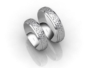 His and Hers Matching Set Palladium Court Wedding Ring-D20149-6608-000P