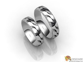 His and Hers Matching Set Platinum Court Wedding Ring-D20175-0101-000P