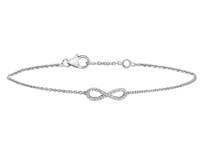 18ct. White Gold Diamonds by the Inch bracelet