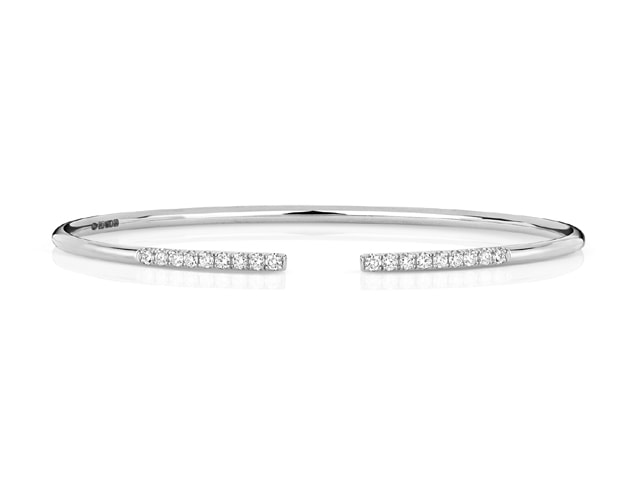 18ct. White Gold Diamonds by the Inch Bangle