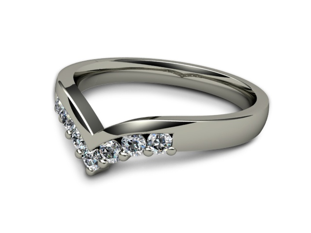 All Diamond Wedding Ring 0.25cts. in Platinum