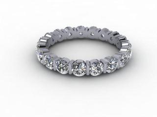 All Diamond Wedding Ring 1.91cts. in Platinum