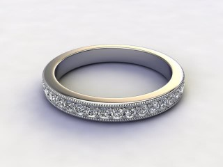 All Diamond Wedding Ring 0.65cts. in Platinum-W88-01054