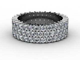 All Diamond Wedding Ring 2.70cts. in Platinum-W88-01070