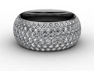 All Diamond Wedding Ring 2.16cts. in Platinum-W88-01071