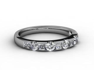 All Diamond Wedding Ring 0.78cts. in Platinum-W88-01081