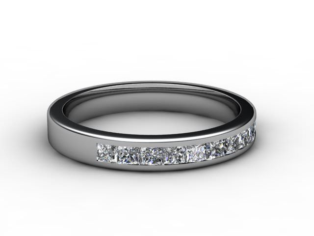 All Diamond Wedding Ring 0.65cts. in Platinum