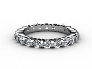 All Diamond Wedding Ring 1.03cts. in Platinum