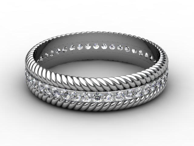 All Diamond Wedding Ring 0.44cts. in Platinum
