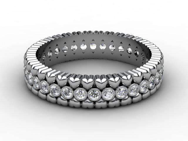 All Diamond Wedding Ring 0.34cts. in Platinum