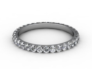 All Diamond Wedding Ring 0.72cts. in Platinum-W88-01115