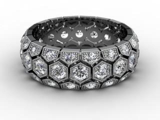 All Diamond Wedding Ring 2.00cts. in Platinum-W88-01124