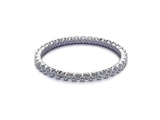 All Diamond Wedding Ring 0.50cts. in Platinum-W88-01513