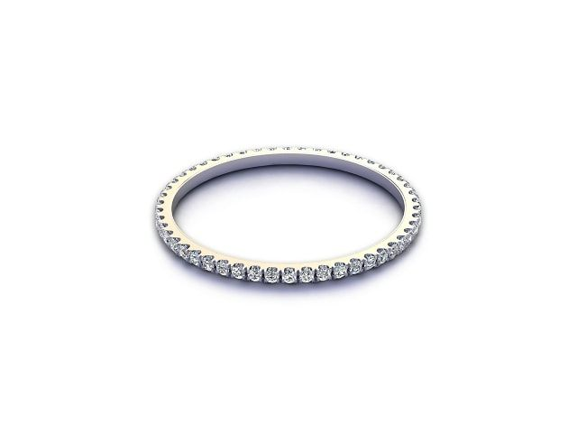 All Diamond Wedding Ring 0.20cts. in Platinum