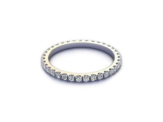 All Diamond Wedding Ring 0.45cts. in Platinum-W88-01522