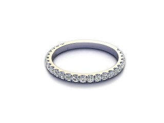 All Diamond Wedding Ring 0.55cts. in Platinum-W88-01529